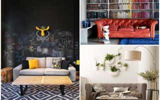 Стена за диваном дизайн