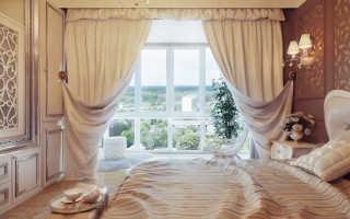 Модные занавески в спальню