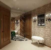 Декор коридора кирпичиками
