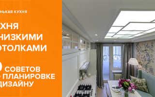 Кухня с низким потолком дизайн