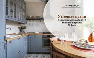 Угловая кухня в интерьере квартиры