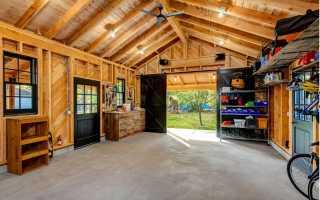 Дизайн гаража внутри своими руками