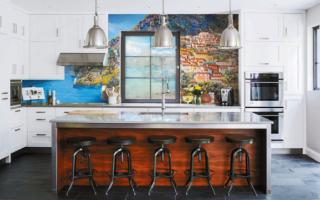 Фрески на кухню в интерьере фото