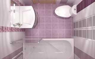 Квадратная ванная комната дизайн
