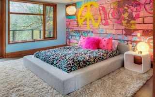 Интерьер в комнате для подростков