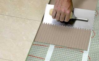 Укладка теплых электрических полах под плитку