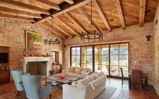 Потолок с деревянными балками дизайн
