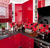 Красно серая кухня дизайн
