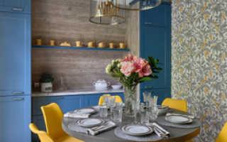 Дизайн кухни стены обои