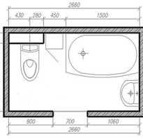 Дизайн стандартных ванных комнат фото