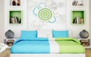 Сочетание зеленого и голубого в интерьере