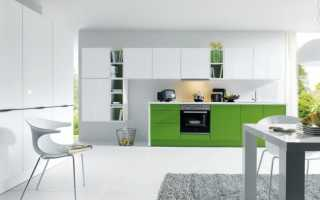 Зеленые шкафы в интерьере