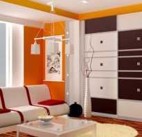 Интерьер комнаты со шкафом купе