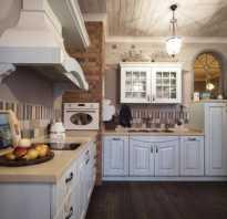 Кухня белая кантри