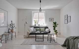 Однокомнатная квартира в скандинавском интерьере