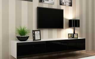 Полки под телевизор в интерьере