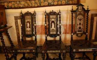 Резная мебель из дерева ручной работы фото