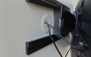 Декор проводов от телевизора
