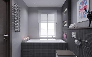 Серая ванная комната дизайн фото