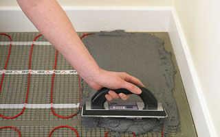 Монтаж теплого пола электрического под плитку видео