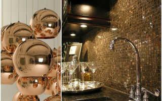 Темные стены в интерьере кухни