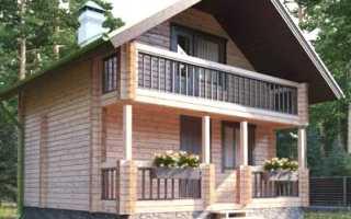 Крутой дом из дерева
