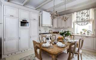 Стиль прованс в интерьере загородного дома кухни
