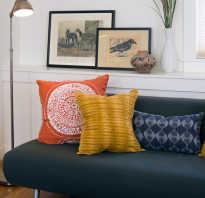 Подушки на диване в интерьере