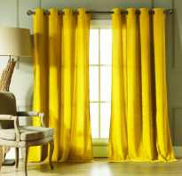 Желтая тюль в интерьере