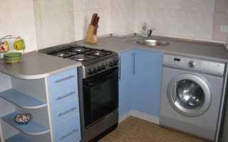 Дизайн кухни со стиральной машиной