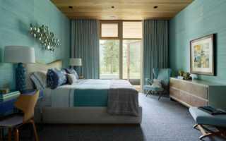 Дизайн комнаты бело бирюзовый