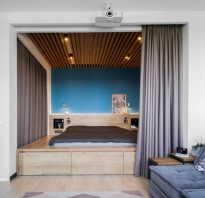 Комната с нишей в однокомнатной квартире дизайн