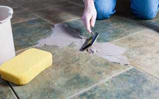 Затирка швов в плитке на полу