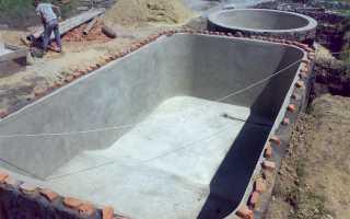 Сделать бассейн из бетона своими руками