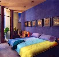 Сочетание с фиолетовым цветом в интерьере