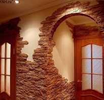 Отделка дверного проема искусственным камнем фото