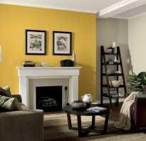 Декор желтых стен