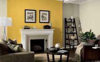 Стены желтого цвета в интерьере