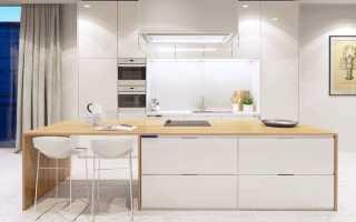 Современные белые кухни в интерьере