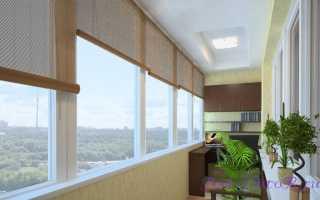Шторы на балкон без сверления