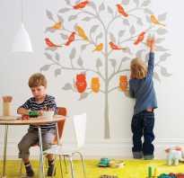 Трафареты для стен детской