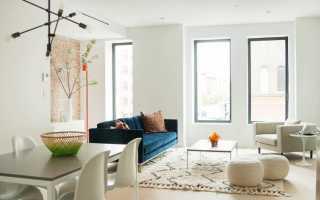Бирюзовый цвет дивана в интерьере
