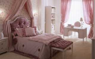 Спальни в розовых тонах