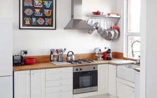 Дизайн маленькой кухни в белом цвете