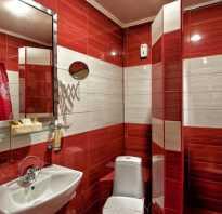 Красная ванная комната дизайн фото